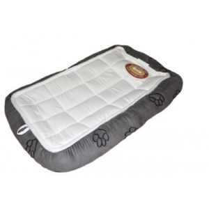 Paw Print Crate Pad Dog Bed
