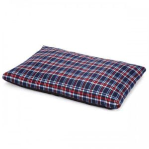 Slumber Pet Fleece Pillow Plaid Dog Bed