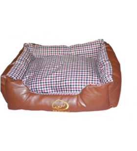 Leather Rectangle Dog Bed
