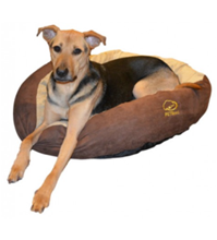 Mixed Brown Dog Bed