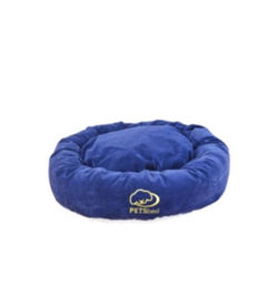 Round Blue Dog Bed