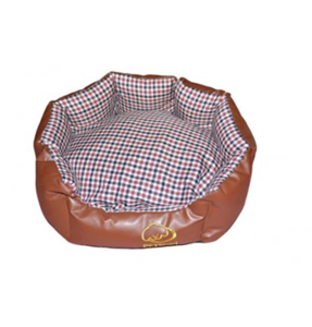 Round Leather Dog Bed