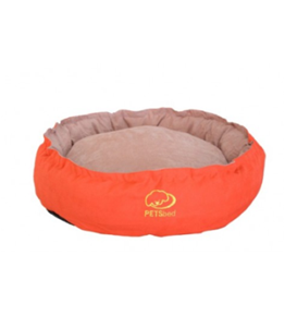 Round Red Dog Bed