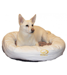 White Disk Dog Bed
